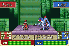 Fire Emblem - FE7if - Battle  - Eliwood 80 hp. - User Screenshot